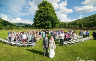 NC Mountain Wedding Ceremony Group Photo