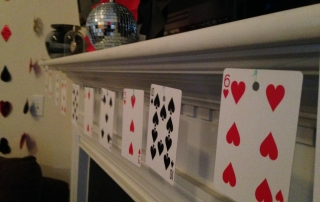 Las Vegas Themed Birthday Party playing card decor