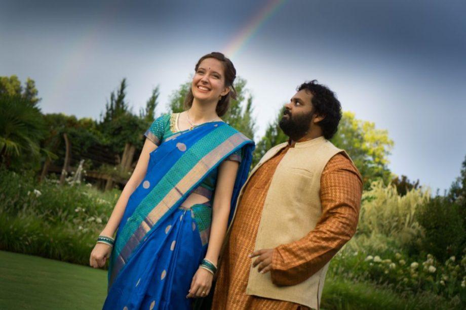double rainbow garden wedding Durham NC
