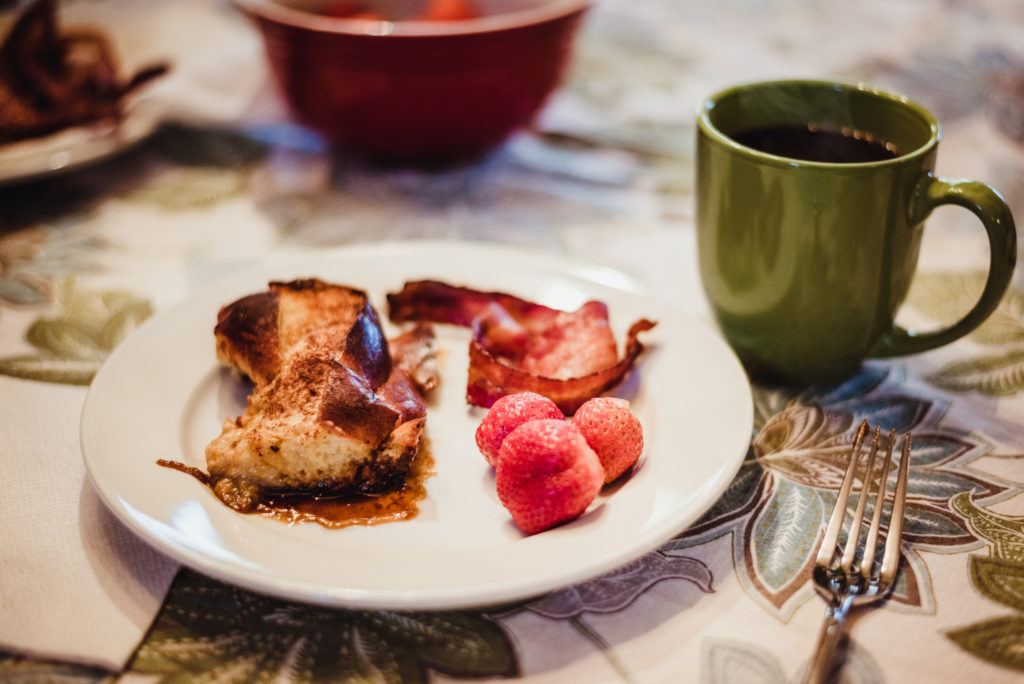Rose Trail Images- bacon and french toast casserole!
