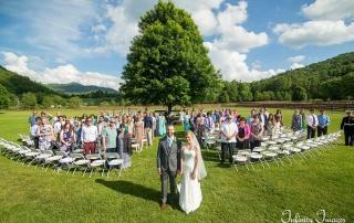 NC Mountain Wedding Ceremony Group Photo