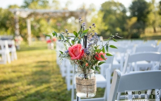 Fresh Wedding Flowers at Virginia Winery Wedding