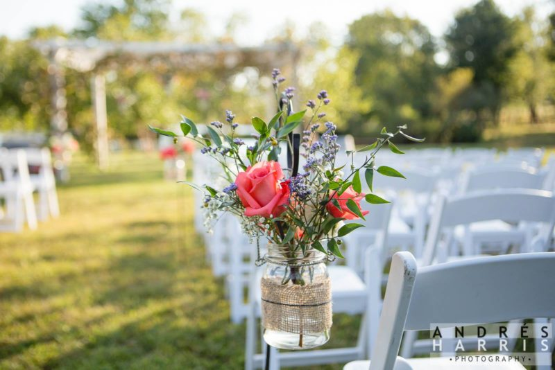 Fresh Wedding Flowers at Virginia Winery Wedding
