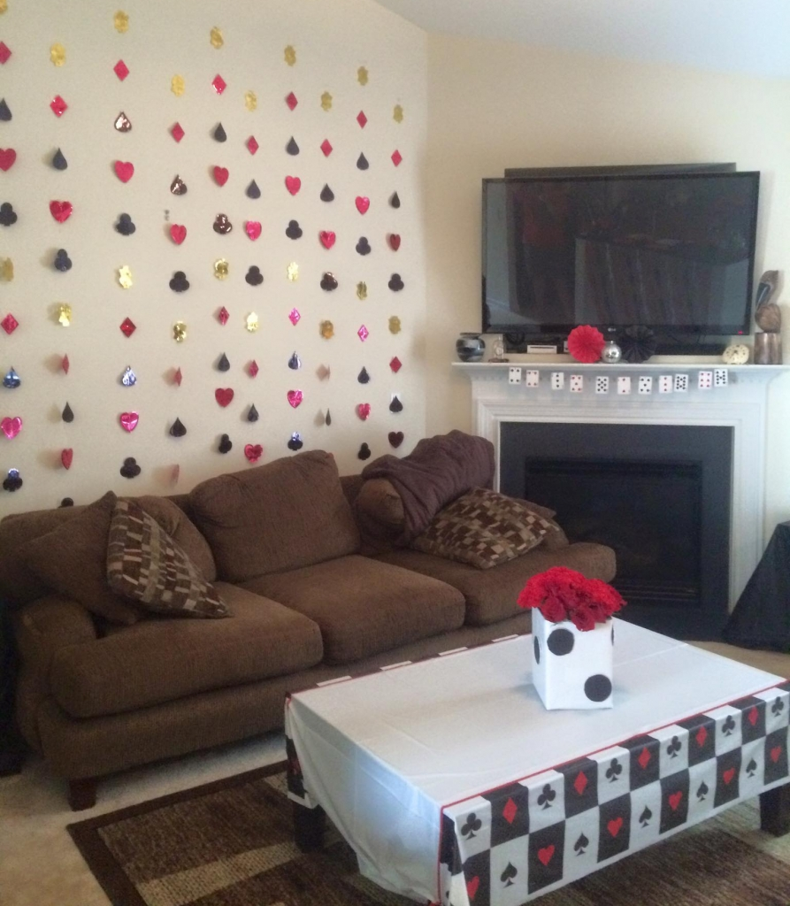 vegas themed living room