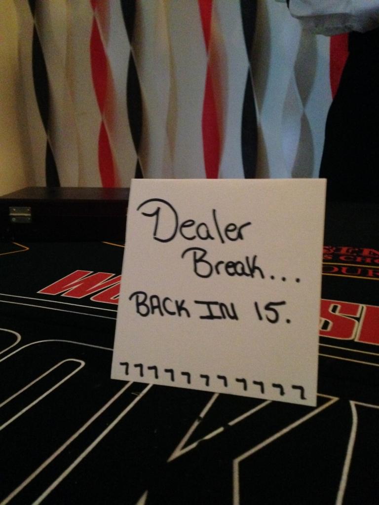 dealer back sign
