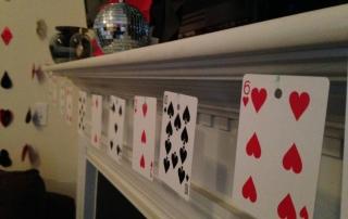 Las Vegas Themed Birthday Party playing card decor