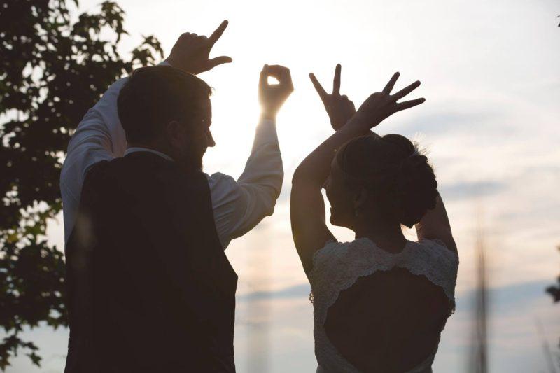 Chapel Hill Wedding bride and groom LOVE photo