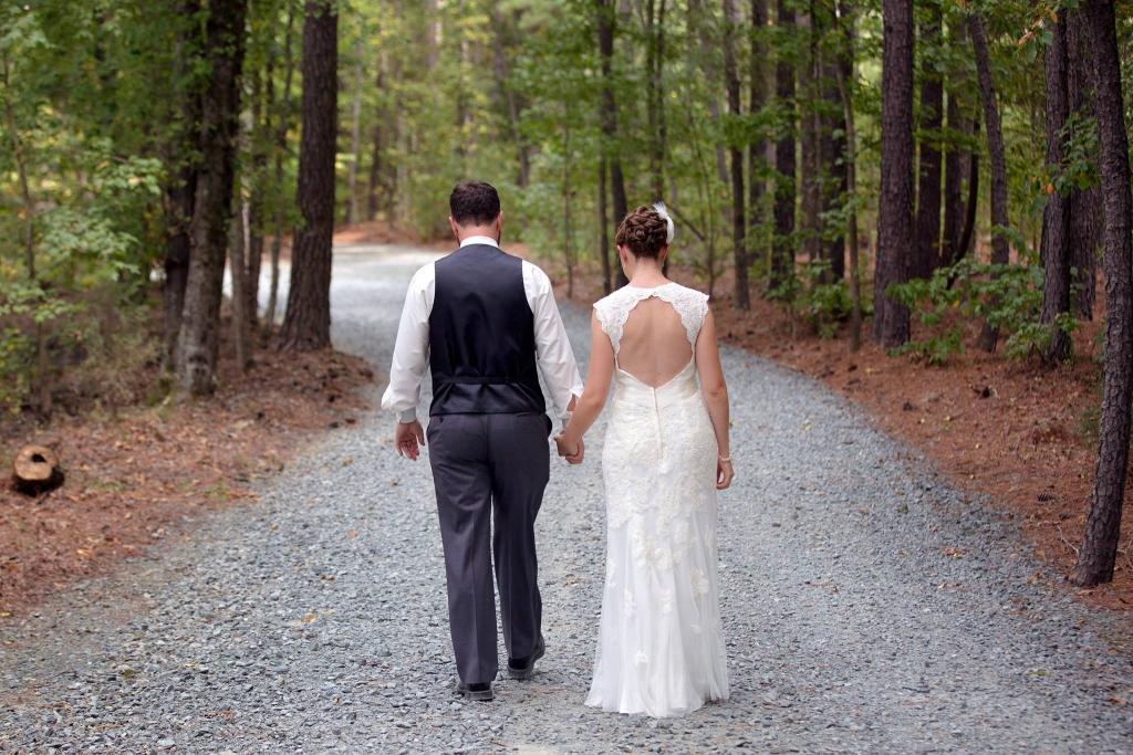 Bride & Groom walking