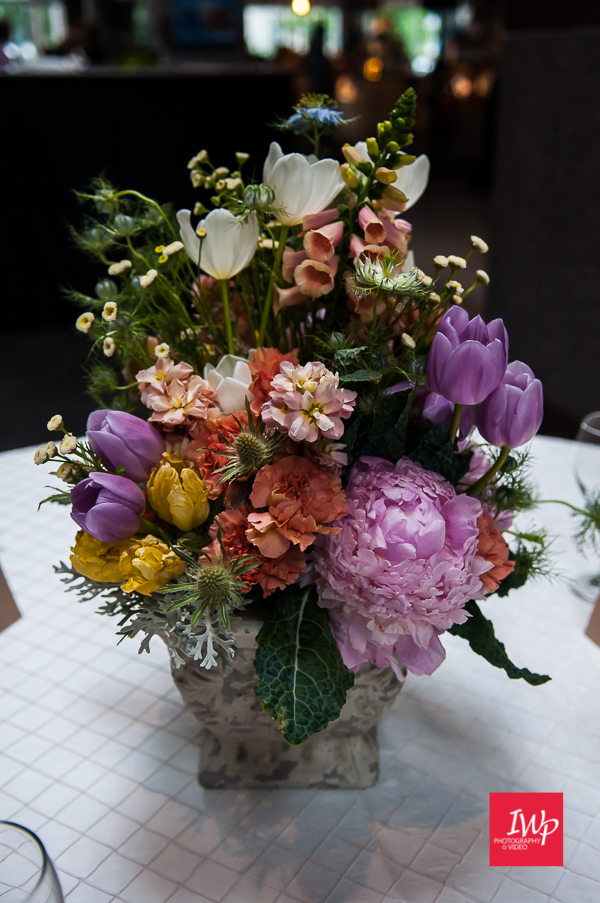 Spring centerpiece by Wildly Cultivated Floral Designs