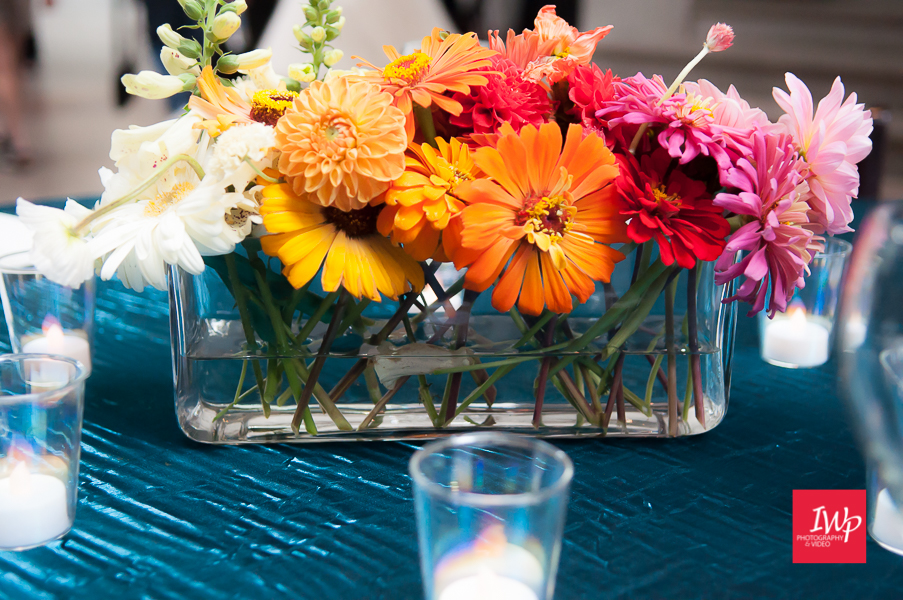 Summer centerpiece by Wildly Cultivated Floral Designs