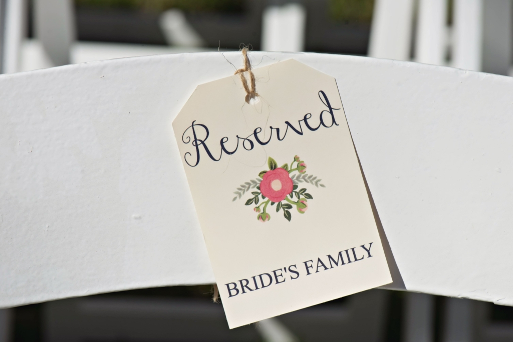 ceremony reserved tags