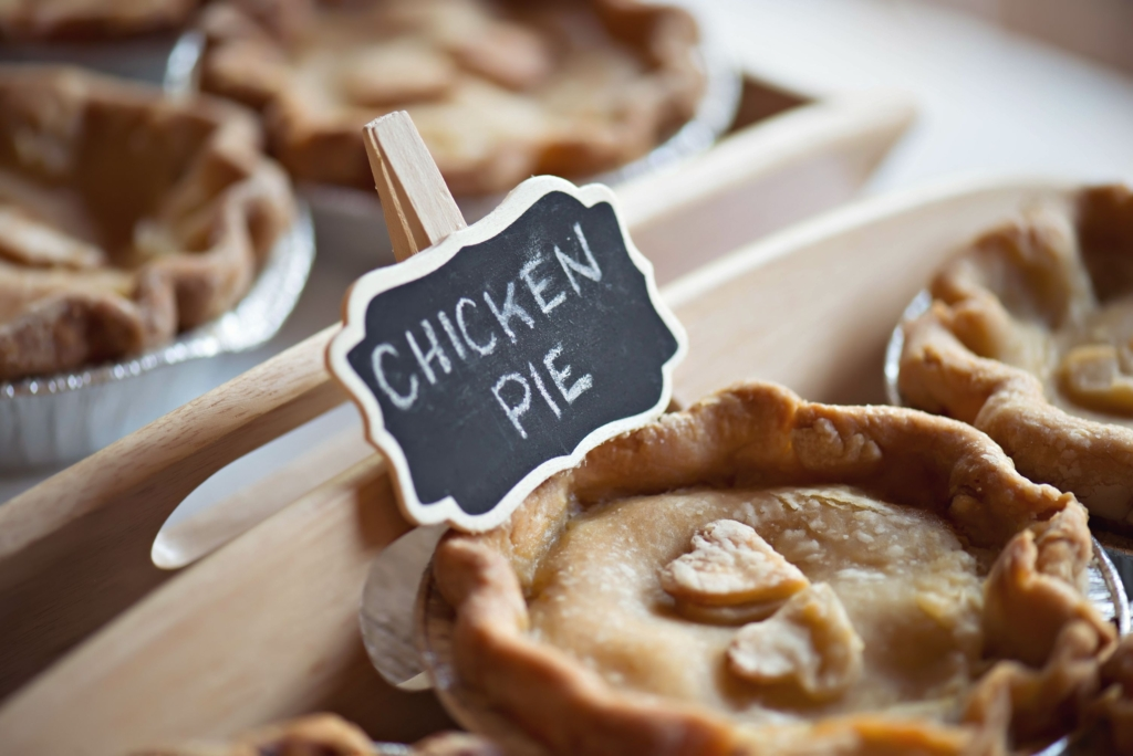 Moravian chicken pies