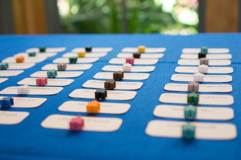 Board Game Wedding Meeple Escort Cards