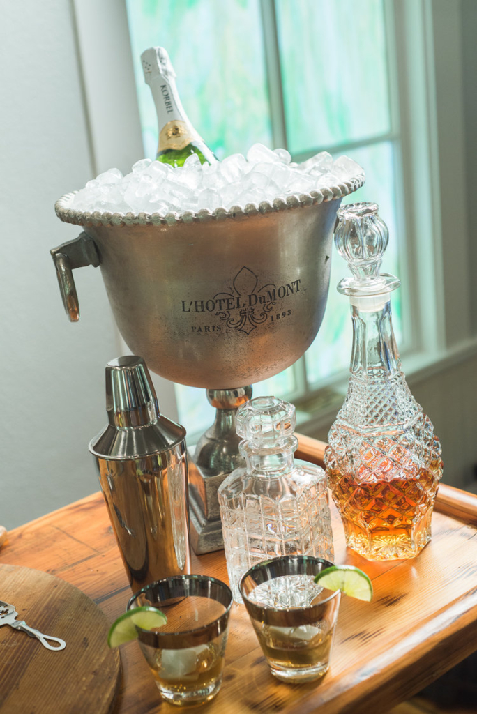 champagne chiller and decanters