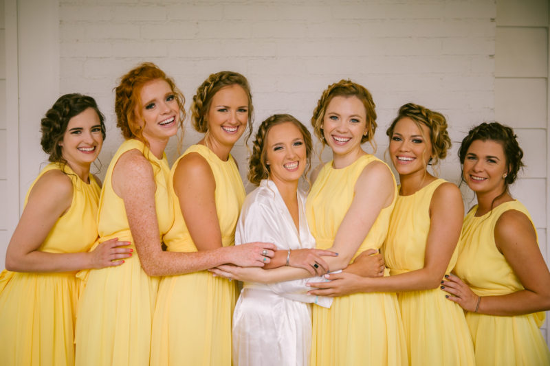 Yellow Bridesmaids Gowns
