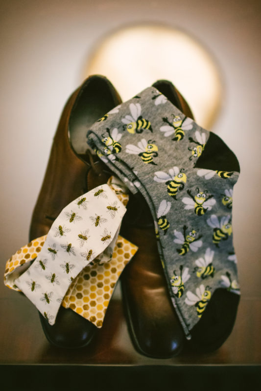 Honeybee Wedding Socks
