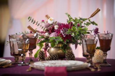 Autumn jewel tone wedding planner