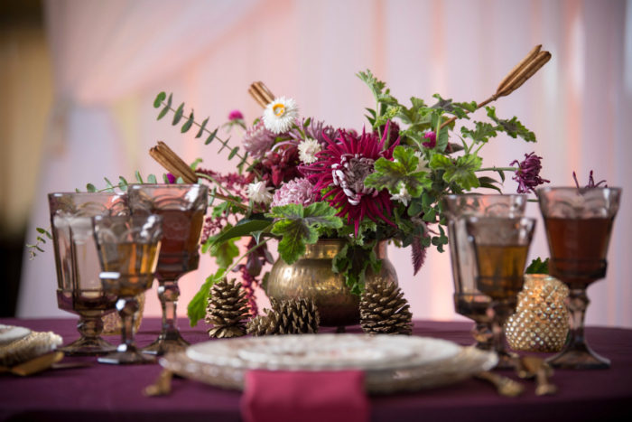 Autumn jewel tone wedding planner