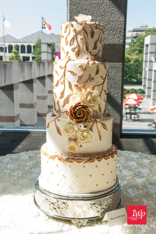 Love Cake Wedding Cake- Bride at the Museum