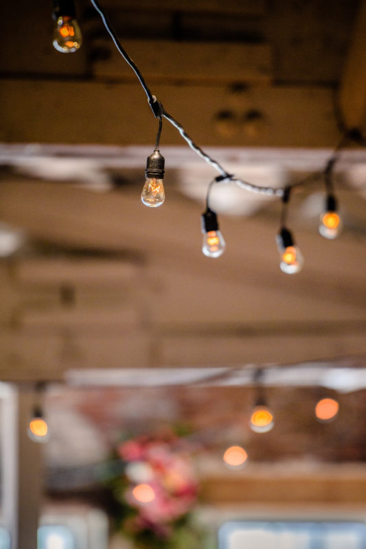 Market Lights at Raleigh Wedding