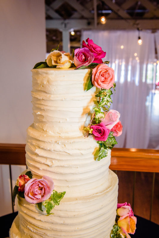 Floral Wedding Cake at Raleigh Wedding
