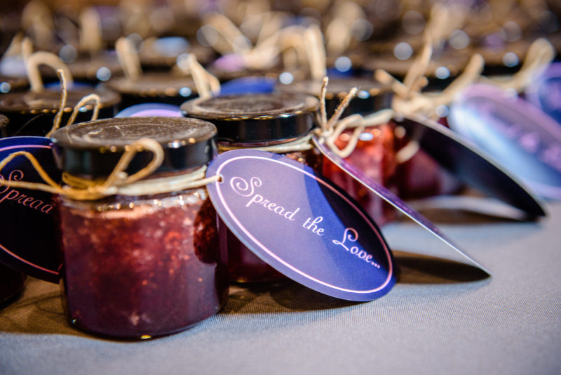 Wedding Favor Jam, Edible Wedding Favors