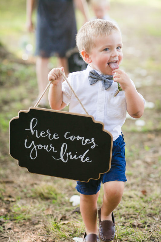 Cute Ringbearer Sign- Chapel Hill Wedding