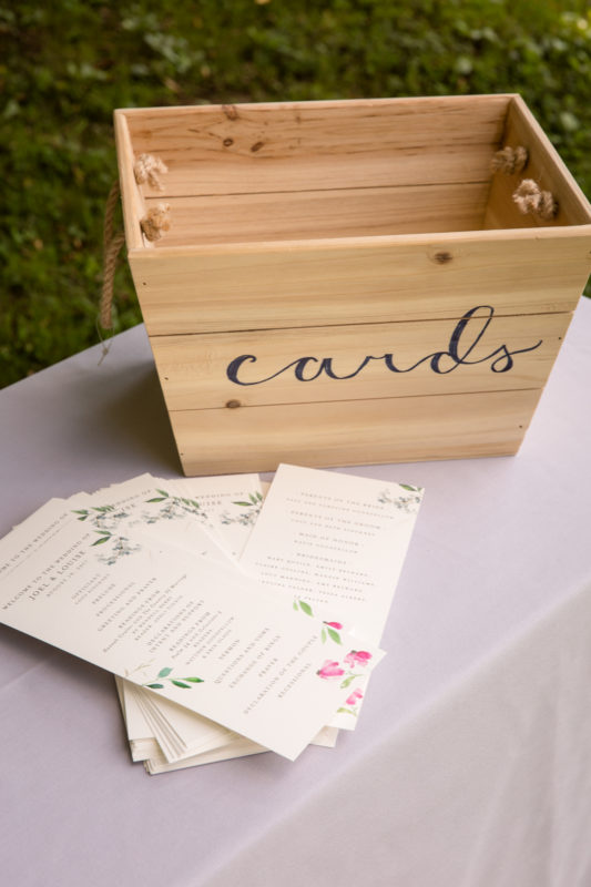 Outdoor Wedding Card Box