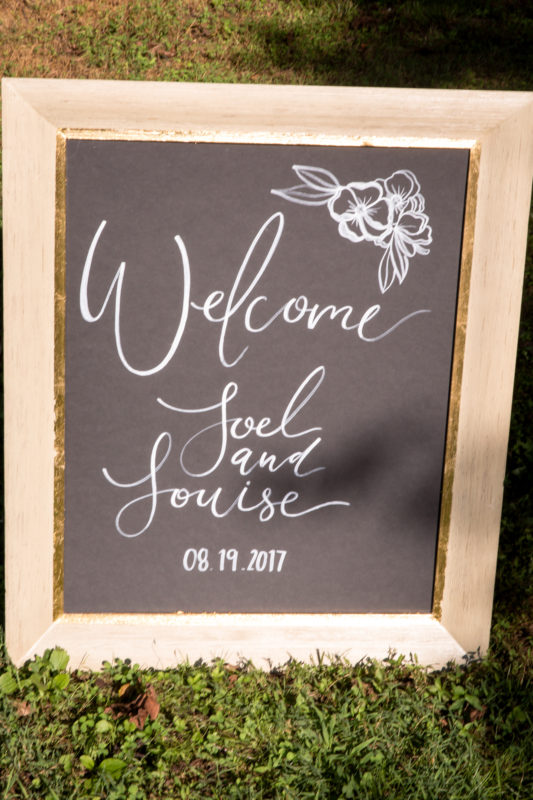 Wedding Welcome Sign - Chapel Hill NC
