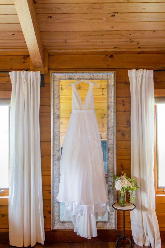 White Wedding Gown, Chapel Hill Wedding