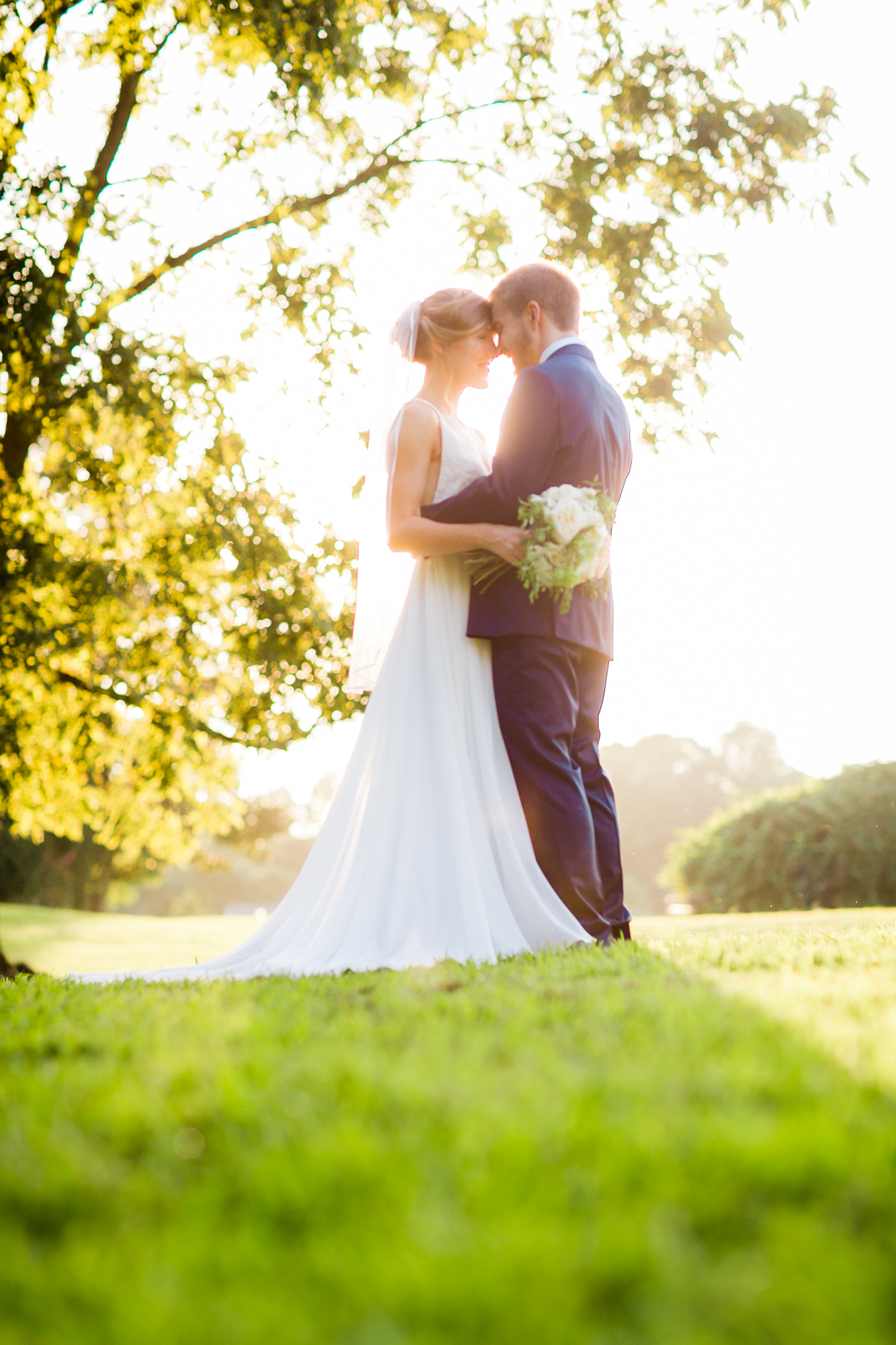 Outdoor Couple Portrait Chapel Hill Wedding
