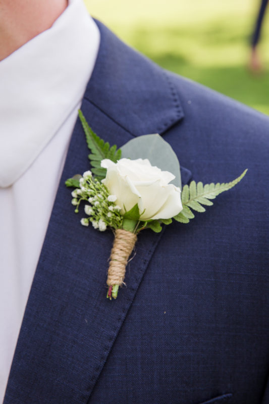 Summer Wedding Boutonniere - Chapel Hill NC