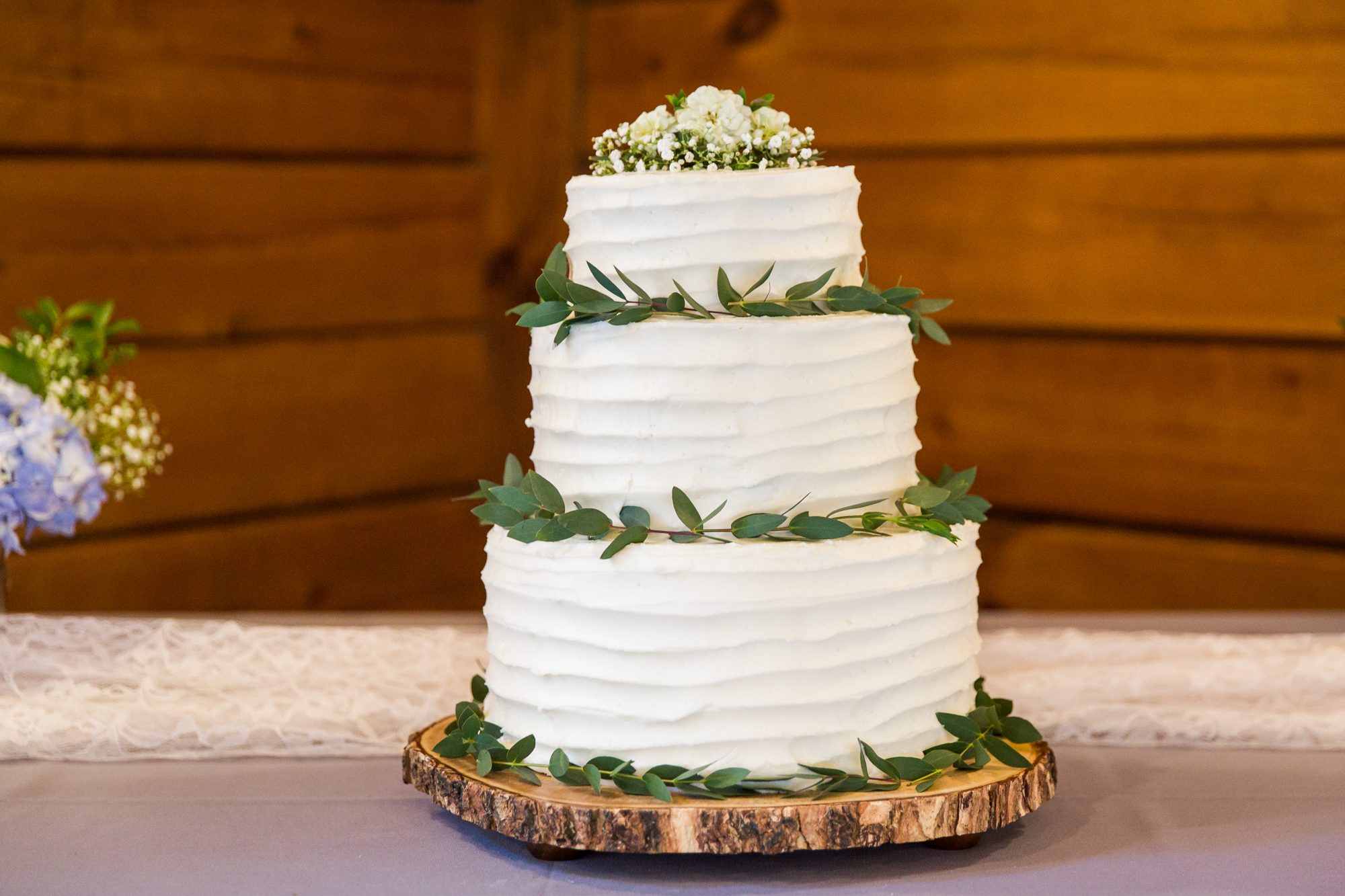 Chapel Hill Wedding Cake- Rustic Textured Cake