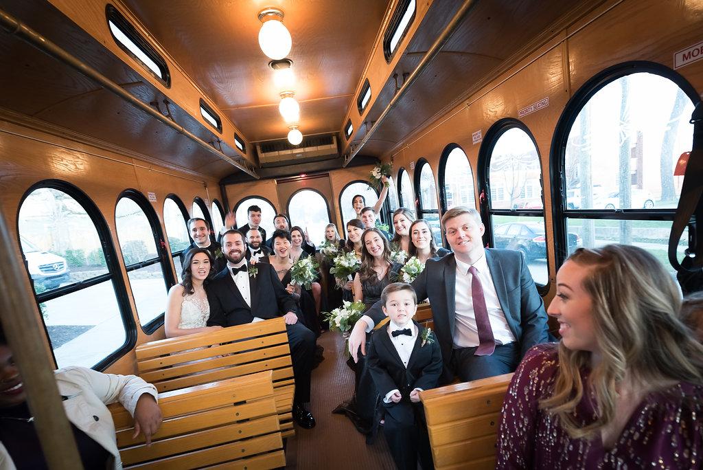 Wedding Trolley Bridal Party